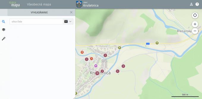f8bf03ee9 Mapový portál - Oficiálna stránka obce Krušetnica